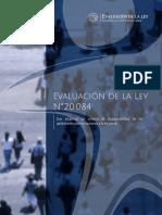 Informe Evaluación Ley 20.084 - 2015