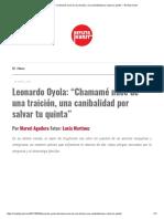 """Leonardo Oyola_ """"Chamamé Nace de Una Traición%2c Una Canibalidad Por Salvar Tu Quinta"""" – Revista Kunst"""