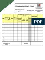 Anexo 5. Verificación de Salidas de Producto Terminado.