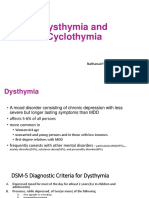 Dysthymia and Cyclothymia