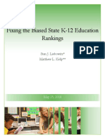 Fixing the Currently Biased State K-12 Education Rankings