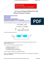 3_Root Locus Design Method for DC Motor Position Control
