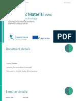 TAU Seminar 2 Material [Part 1]