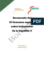 Documento Del III Consenso Espanol SoBre Tratamiento de La Hepatitis C