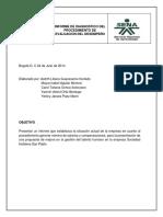 f. Informe Diagnóstico de Nomina