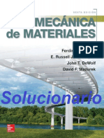 Solucionario Mecánica de Materiales - Beer, Johnston - 6ta. Edición