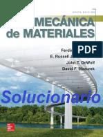 Solucionario Mecánica de Materiales - Beer, Johnston - 6ta. Edición