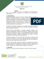 Proyecto Para Adquisicion de Mesas, Sillas, Pizarra, Manteles