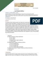 Cognitive Dysfunction and Diabetes Mellitus