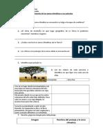 Cuestionario de Las Zonas Climáticas y Sus Paisajes Trabajo