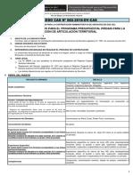 Convocatoria CAS N° 062- Bases de Perfil