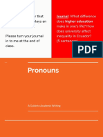 Pronouns - Friday, June 8
