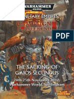 The Sacking of Gaios Secundus - Games Workshop