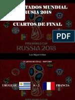 Luis Miguel Urbina - Resultados Mundial Rusia 2018, Cuartos de final