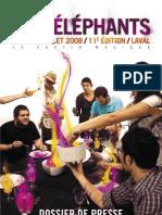 festival les 3 éléphants 2008