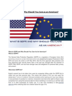 GDPR and Why Should You Care as an American