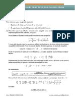 EBAU 2018 Julio Matemáticas II Castilla y León (Soluciones)