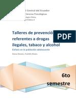 Talleres de Prevención Referentes a Drogas legales e ilegales