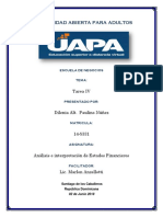 Tarea IV Interpretacion de Estados Financieros
