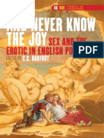 (and Never Know the Joy) - Sex and the Erotic in English Poetry