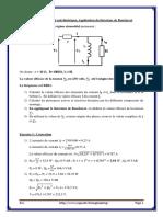 Exercice I Etude d'Un Circuit Électrique Application Du Théorème de Boucherot