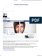 Brainstorm9 2012 a Timeline Do Facebook Mais Criativa Até Agora
