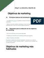 Objetivos Plan de Marketing 3 Guia