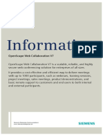 OpenScape Web Collaboration V7, Data Sheet, Issue 1