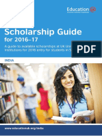 Uk Scholarship Guide for Indian Students 2016 17