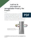 Refrigerador Frost y No Frost
