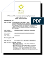 WITS 2008 - Final Agenda