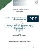 Unidad 2. Funciones y Atribuciones de Los Cuerpos de Seguridad