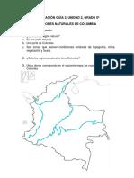 Evaluación Regiones Naturales - Guía 2