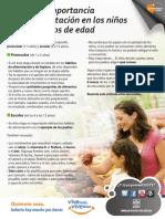 Conoce La Importancia de La Alimentacion en Los Niños de 1 a 12 Años de Edad