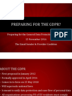 Panel 3 PPT -- Preparing for the GDPR
