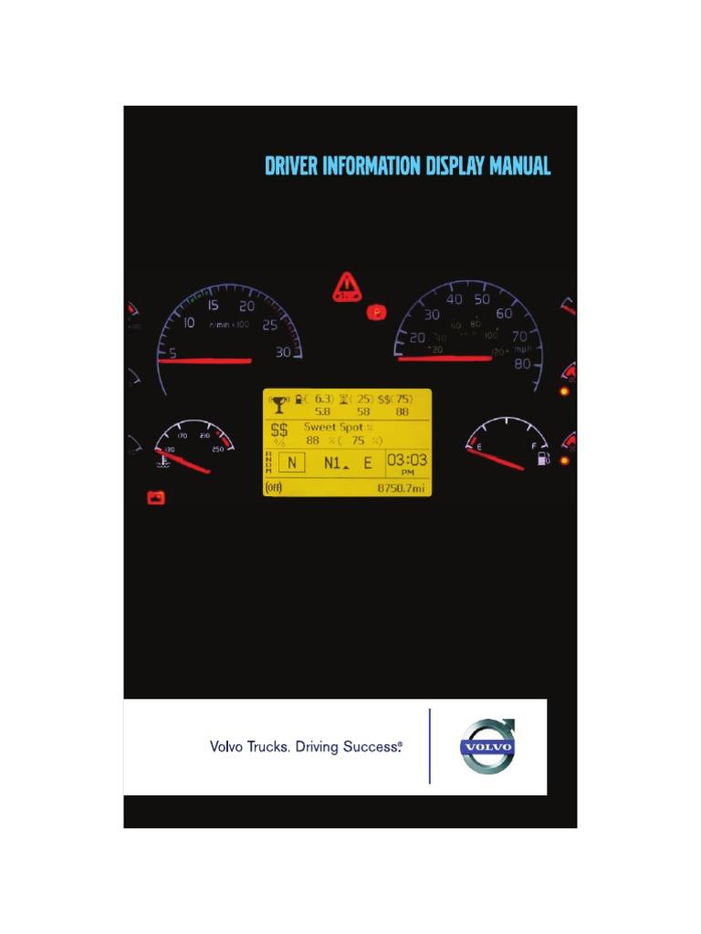 DRIVER INFORMATION DISPLAY MANUAL - VOLVO | Transmission (Mechanics