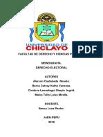 Derecho Electoral ..........
