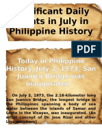 Significant Daily Events in July in Philippine History