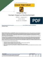 MDP461 Assigment 1 - Human Impact Unit Plan- Andrew Rubira N7460805