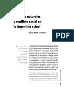 Recursos Naturales y Conflictos Sociales en Patagonia