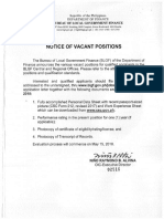 Notice of Vacant Position