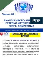 1 Sesion 04 Taller de Análisis Macro Ambiental Externo. Matrices Efe y Perfil Competitivo