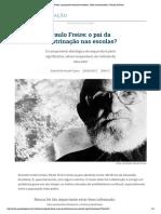 Paulo Freire, o patrono da educação brasileira_ herói ou doutrinador_ _ Gazeta do Povo