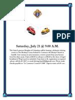 St Lawrence KofC DD CLass 7-21-2018