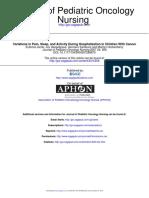 Pain Sleep and Activity Pc 2008