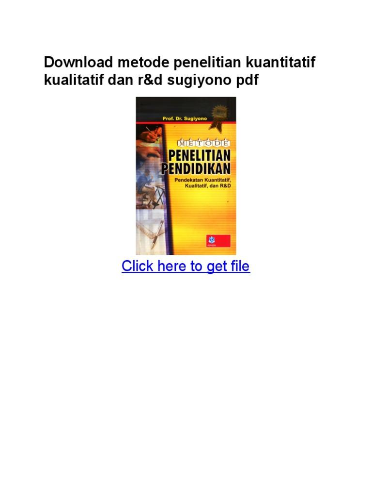 Penelitian metodologi kuantitatif ebook download