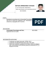 CV  Raúl Arredondo Choque