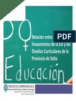 Lineamientos ESI y Disenos Curriculares