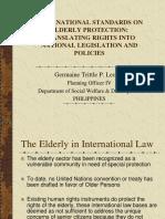 International Standards on Elderly Protection