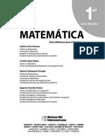 1º medio - Matemática - Editorial McGraw-Hill - Guía Didáctica para el Profesor.pdf